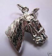 Sterling Silver Horses Head Charm
